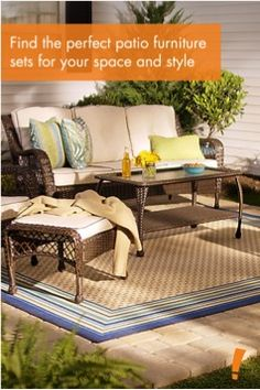 Wilson U0026 Fisher Sierra Patio Furniture Collection At Big Lots. | Patio |  Pinterest | Furniture Collection, Patios And House