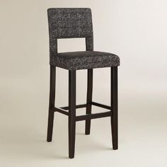 One of my favorite discoveries at WorldMarket.com: Gray Tweed Bret Bar Stool