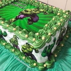 Hulk Birthday Cakes, Hulk Birthday Parties, Superhero Birthday Party, 3rd Birthday, Power Rangers Birthday Cake, Hulk Cakes, Hulk Party, Avengers Birthday, Incredible Hulk