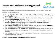 Seesaw Text Features Scavenger Hunt by Teaching Around The Campfire Teaching French, Teaching Spanish, Spanish Language Learning, English Language, Seesaw App, Teaching Tools, Teaching Ideas, Learning Support, Text Types