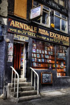 Arndale Book exchange, Shude Hill, Manchester, one of Manchester's older more historic buildings. Ex Libris, I Love Books, Books To Read, Home Libraries, Book And Magazine, Shop Fronts, Ansel Adams, Old Books, Book Nooks