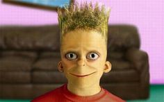 Ever wonder what real life versions of cartoon characters would look like? We& assembled some alternative art, photoshops, and real life . Bart Simpson, Weird Family Photos, Walt Disney, Facial Proportions, Realistic Cartoons, Alternative Art, Cartoon Characters, 3d Cartoon, Fictional Characters