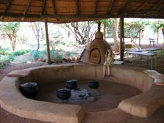 earthen oven in Africa This is awesome.  The whole thing