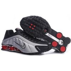 sports shoes 9a196 cdd43 104265 074 Nike Shox R4 Black White Red J09127 Nike Shox Clearance, Mens  Nike Shox
