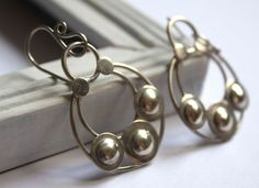 Umayyad earrings, Arabian tales jewelry in sterling silver