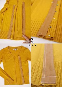 Refashioning a too small sweater from .I Am Momma - Hear Me Roar: Refashionista - Delia from Delia Creates Sewing Hacks, Sewing Tutorials, Sewing Crafts, Sewing Projects, Sewing Patterns, Upcycled Crafts, Knitting Patterns, Dress Tutorials, Fabric Crafts