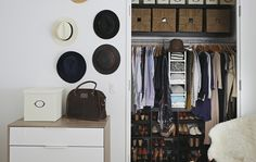 Customise your wardrobe with interior solutions like shelves, drawers