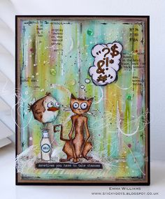 That's Life: Take A Chance... When Bird Crazy Met Crazy Cat using products by Tim Holtz and Ranger Ink