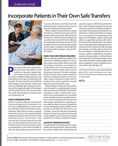Clinicians' Guide..Transfers  Pinned by SOS Inc. Resources http://pinterest.com/sostherapy.