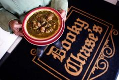 Gumbo Z'herbes, served only on Holy Thursday (the Thursday before Easter) at Dooky Chase, a Creole and Soul Food restaurant.