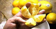 Κόψτε ένα λεμόνι σε 4 μέρη, βάλτε λίγο αλάτι και τοποθετήστε το στη μέση της…