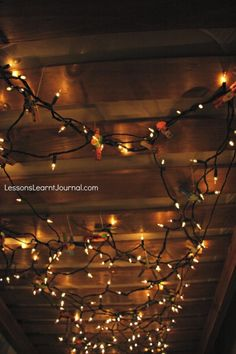 Open up your child's imagination by creating a fort with fairy lights.