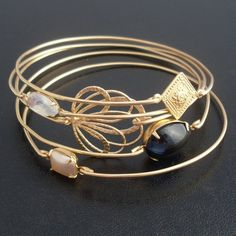 I'm not usually a huge bracelet person, but these bangles are beautiful together!