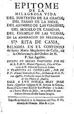 Epitome de la milagrosa vida de...Sta.Rita de Casia...del Orden de N.P.S.Agustín - Libros en Google Play