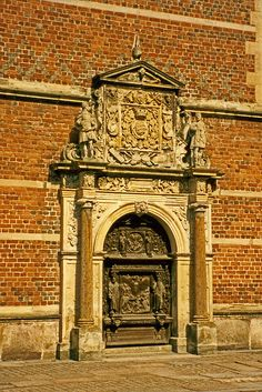 Door Frederiksborg Castle in Hilleroed, Denmark. Photo by Terence Faircloth (Atelier Teee (on hiatus) on flickr)