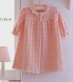 Crochet y dos agujas: Bellísimo vestido de niña: una obra de arte al crochet