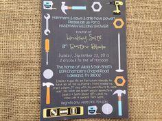 Printed or DIGITAL Tools Home Wedding Shower Invitations by HanBananDesigns, $15.00 digital, $0.82 each printed