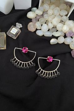 An online luxury jewellery store offering a range of stylish & handcrafted accessories for women. Shop for Necklaces, Bangles, Earrings, Rings, MaangTikkas, Mathapattis & more. Luxury Jewelry, Jewelry Stores, Bangles, Stylish, Earrings, Silver, Accessories, Shopping, Ear Rings