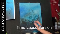 Learn to Paint | Shipwreck | Time Lapse | painting for beginners | Acryi...