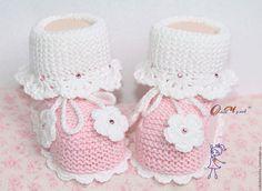 Для новорожденных, ручной работы. Ярмарка Мастеров - ручная работа. Купить Пинетки для новорожденных. Handmade. Розовый, пинетки спицами