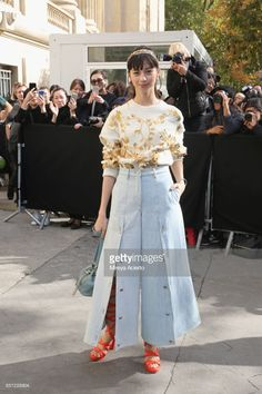Japanese actress Ayami Nakajo attends the Chanel show as part of the Paris Fashion Week Womenswear Spring/Summer 2018 on October 3, 2017 in Paris, France.