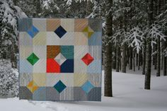 """Layers of Charm Quilt using """"Doe"""" fabric line (with link to free pattern and video tutorial)   Night Quilter"""