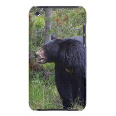 Black Bear Wild Animal Bear-lover iPod Touch Case by designer Val Brackenridge.