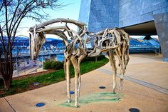 The Deborah Butterfield horse sculpture at the Hunter Art Museum. (Little known fact: There's another piece by this artist atop Lookout Mountain.)