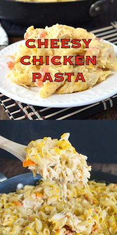 This Cheesy Chicken Pasta is an easy meal that you can have on your dinner table in under 30 minutes. Easy Chicken Recipes, Easy Healthy Recipes, New Recipes, Cooking Recipes, Favorite Recipes, Drink Recipes, Recipies, Cheesy Chicken Pasta, Chicken Marinara