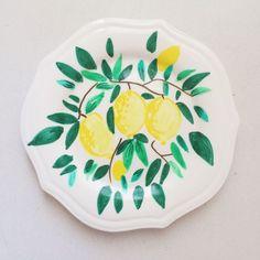צלחת עוגה - לימונים | LULI handmade | מרמלדה מרקט