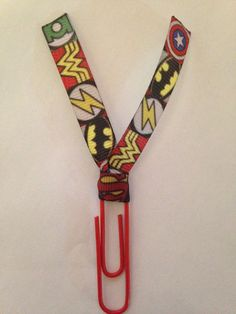 Justice League Super Hero Wonder Woman The Flash Batman Superman Ribbon Paper Clip for Planners, Journals, Organizing, Paperwork, Bookmarks by MamaSellsStuff on Etsy