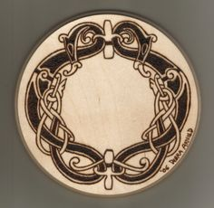 """debraarnold:  Woodburning: Norse Serpent Des by ~DebsDen One of the first woodburnings I did. I didn't draw this design by the way, it's from a collection of Norse designs and I keep it posted for """"historical"""" reasons."""