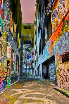 Graffiti in Hosier Lane, Melbourne. #Melbourne