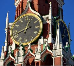 Tower Clock by Mikhail Kovalev, Moscow Kremlin, Russia.