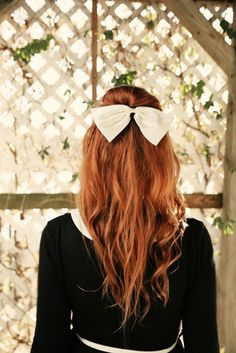 25 Gorgeous Half-Up, Half-Down Hairstyles.  Perfect Holiday Hair    A teased half up style with a braid accent has a vintage feel and would be great for dressier occasions.  Check it out on A Beautiful Mess.
