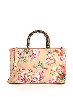 a4f374bc2a3b Gucci - Bamboo Shopper Blooms Leather Tote