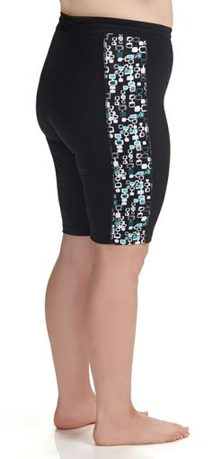 aquasport long fitted boy short | womens plus size swim shorts