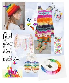 Rainbow by filcalki on Polyvore featuring polyvore fashion style Chloé Casetify clothing boho rainbow hippie summer2016 filcalki