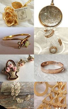 Golden Gifts by Sally Jones on Etsy--Pinned with TreasuryPin.com