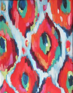 16x20 Artist Painting Print abstract Ikat by LauraDroDesigns, $75.00