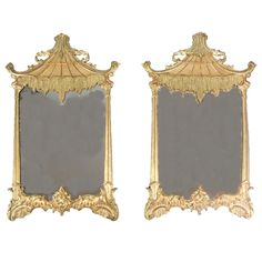 Opium dens, I have always wanted one and these would be perfect! A Pair of Rococo Revival Giltwood Mirrors