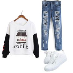 Deal of the Day 1. Nutella Sweatshirt 2. Blue Ripped Denim 3. Colour Block Shoes Price: 5248/- Deal Price: 4660/- Ships in 24hours. Limited Stock.  Shop yours now.