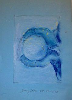 Brigitte - Schneeball - Pastellkreide (Crayon)