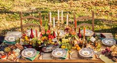 fall table from At Home In Arkansas magazine