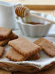 biscotti integrali al miele con olio