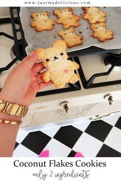 Two ingredients coconut flakes cookies which looks like teddy bears. Cute food, cute cookies, perfect for kids and parties, dessert. #recipe #recipes #food #lunch #supper #breakfast #cutefood #cute #foodstylist #foodstyling #foodphotographer #foodphotography #foodie #foodart #cookies #cookie #coconut #coconutflakes #teddybears #teddybear #teddy #bear #bears #kawaii #foodforkids Cute Cookies, 2 Ingredients, Cute Food, Coconut Flakes, Baby Food Recipes, Food Styling, Food Art, Kids Meals, Oreo