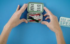 Use Altoids tins for learning opportunities! These clever ideas will give you ways to create classroom centers in a small space. Altoids Tins, Reading Intervention, Word Study, Phonics, Clever, Classroom, Speech Pathology, Learning, Words