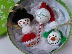 Golf Ball Christmas Ornaments by SleepyHollowCrochet on Etsy, $20.00