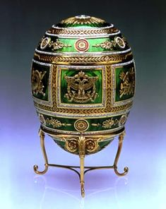 Imperial Fabergé Egg the Napoleonic Egg. Emperor Nicholas II presented to Dowager Empress Maria Feodorovna. Tsar Nicolas Ii, Tsar Nicholas, Fabrege Eggs, Objets Antiques, La Madone, Maria Feodorovna, New Orleans Museums, Art Ancien, Egg Designs