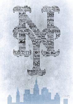 New York Mets Art Print by Ed Burczyk  Society6